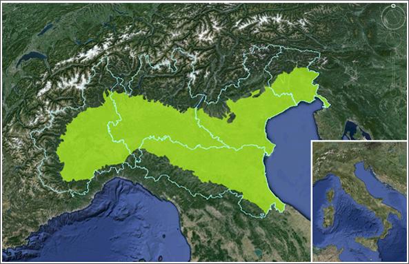 Mappa progetto LifeHelpsoil